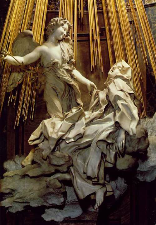 Bernini-St Theresa in Ecstacy, detail
