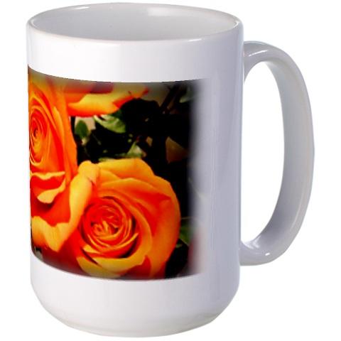 orange rose mug