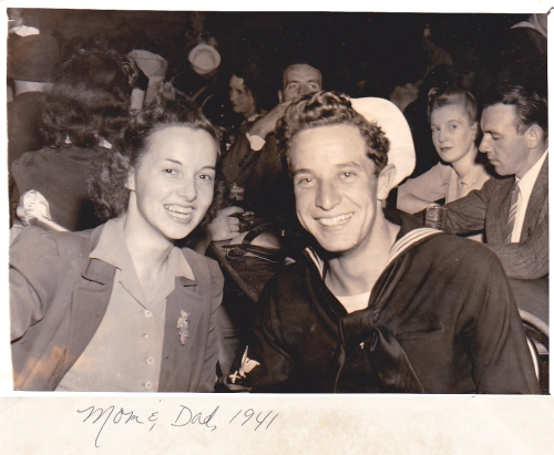 My mom and dad in 1941
